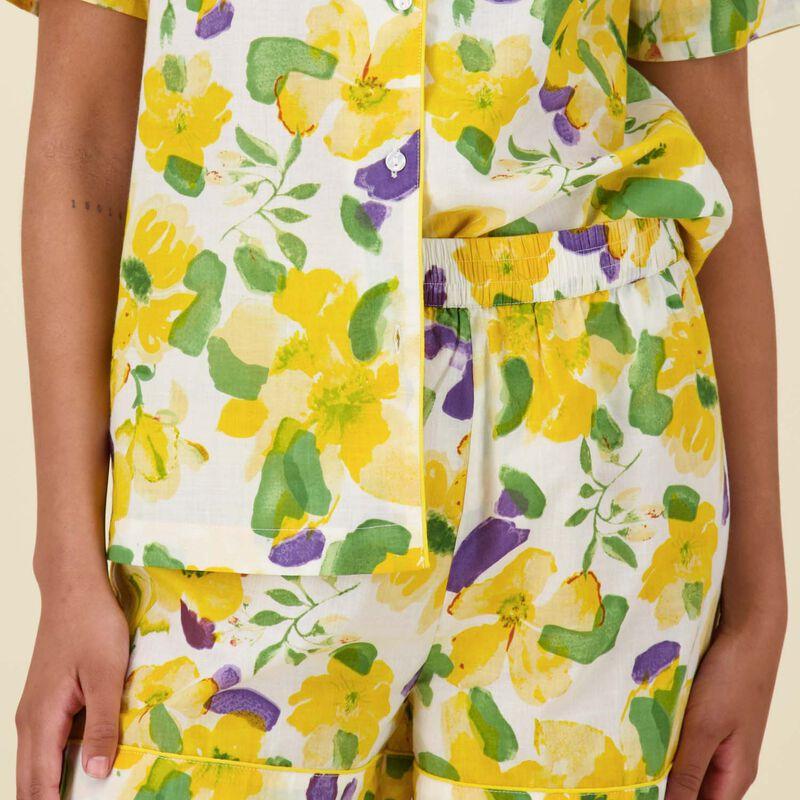 Rosebud Pyjama Set -  blue-yellow