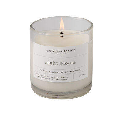 Amanda Jayne Night Bloom Candle in Glass