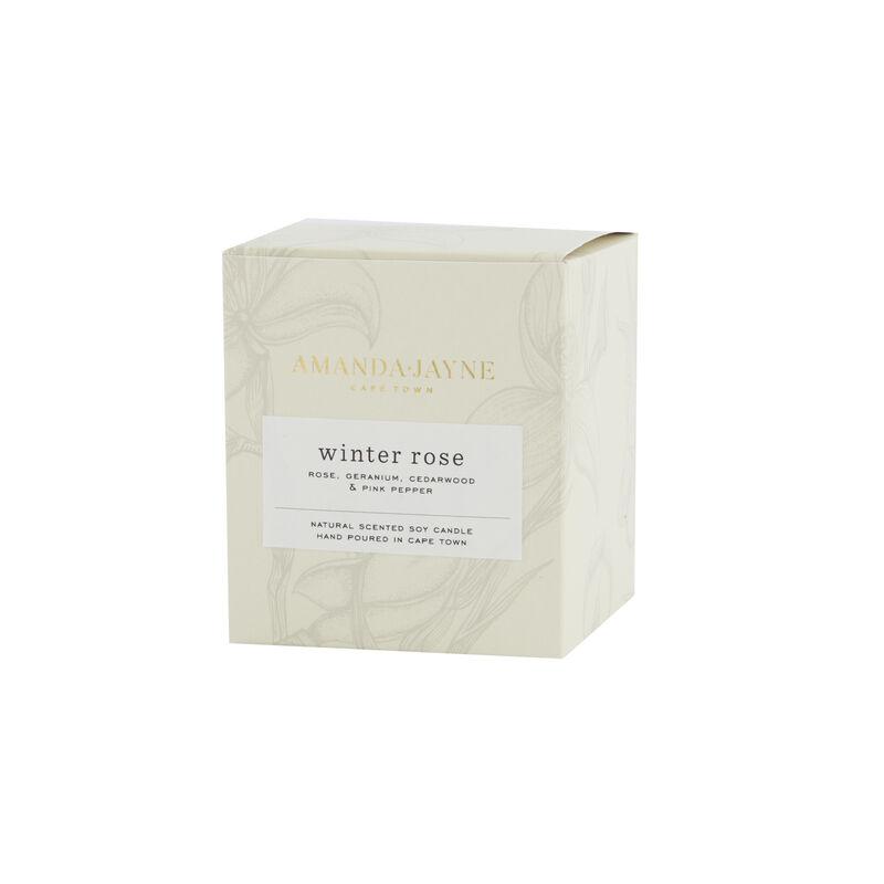 Amanda Jayne Winter Rose Candle in Glass   -  white-black