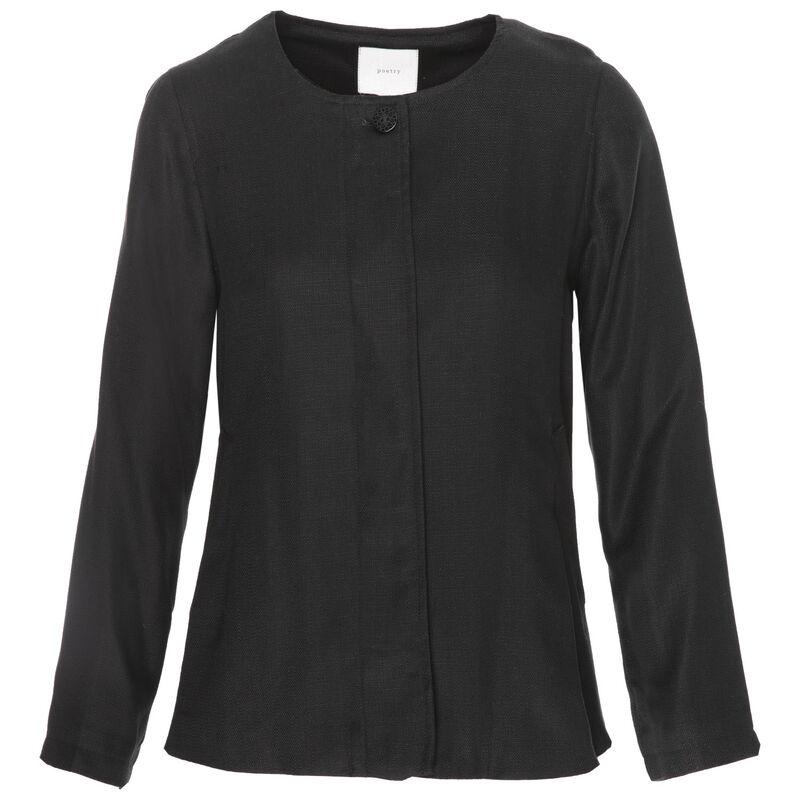 Alexa Rushed Sleeve Blazer -  black