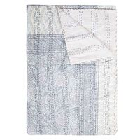 Bloom Indian Quilt -  sage-white