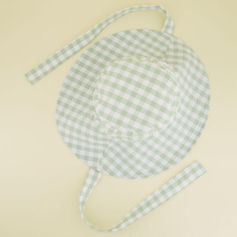 Maya Gingham Floppy Hat -  lightgreen