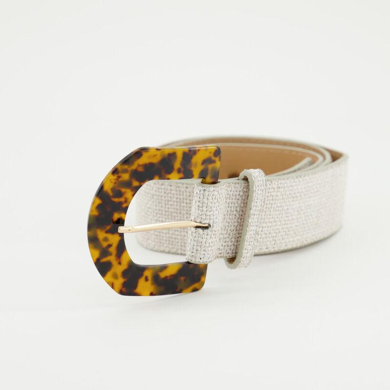 Jamila Linen Look Belt -  stone
