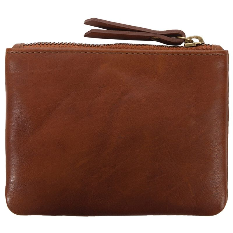 Moira Leather Small Pouch -  tan