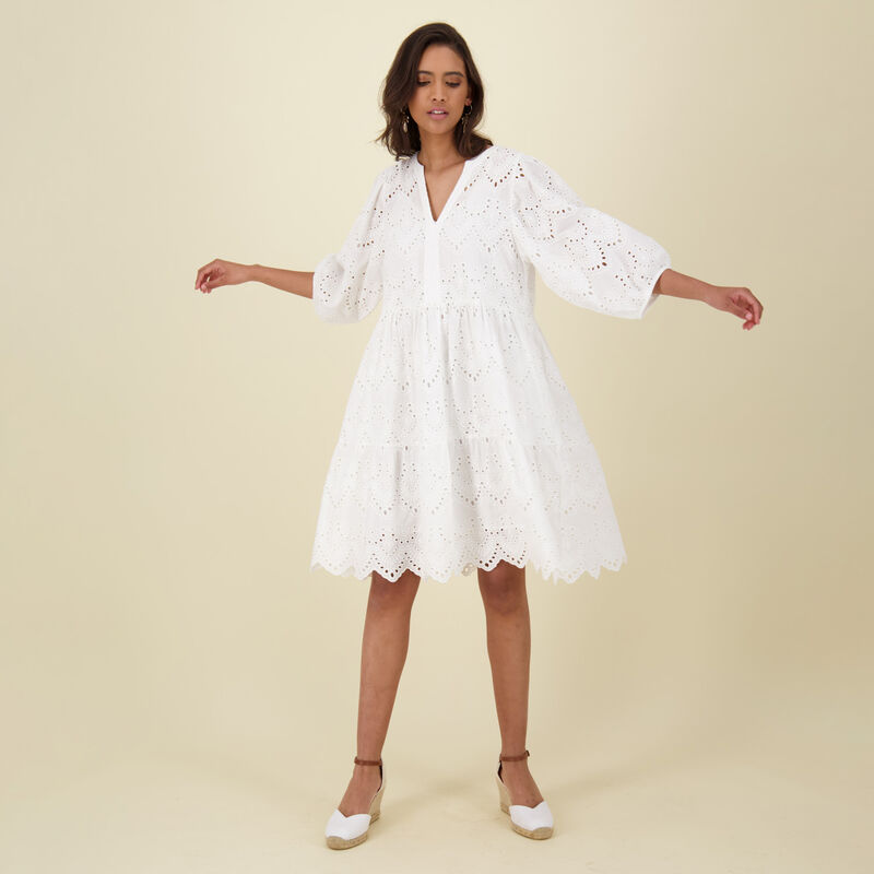 Kelly Shiffley Dress -  white