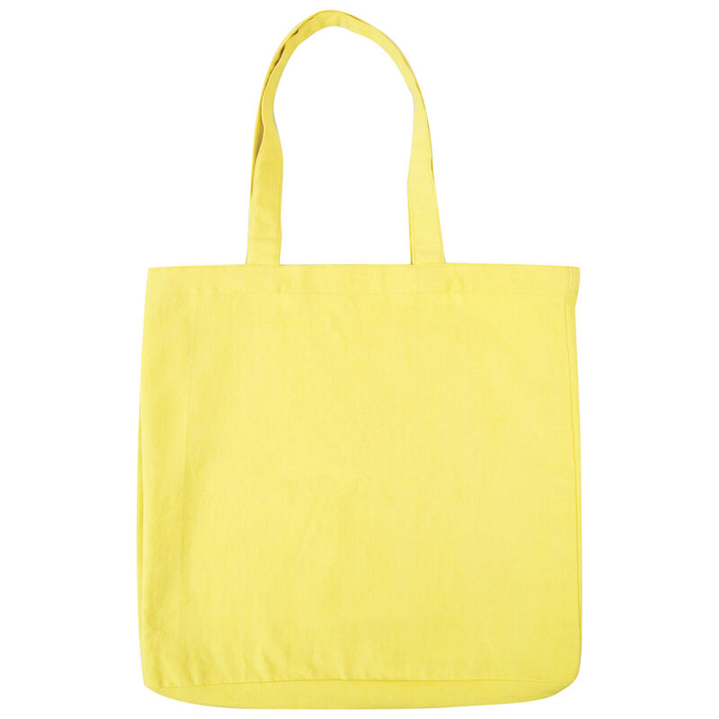 Yellow Canvas Tote Bag -  yellow-blue