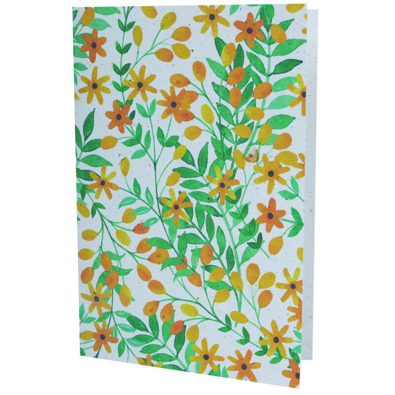 Growing Paper Sunshine Floral Card -  assorted