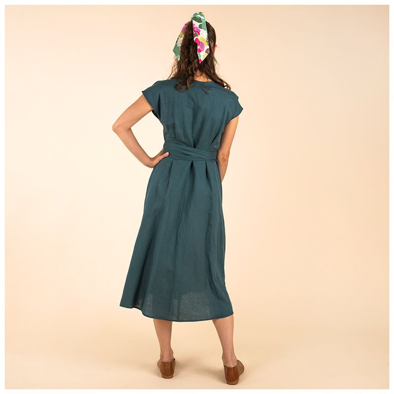 Poetry Abnoba Linen Dress -  olive