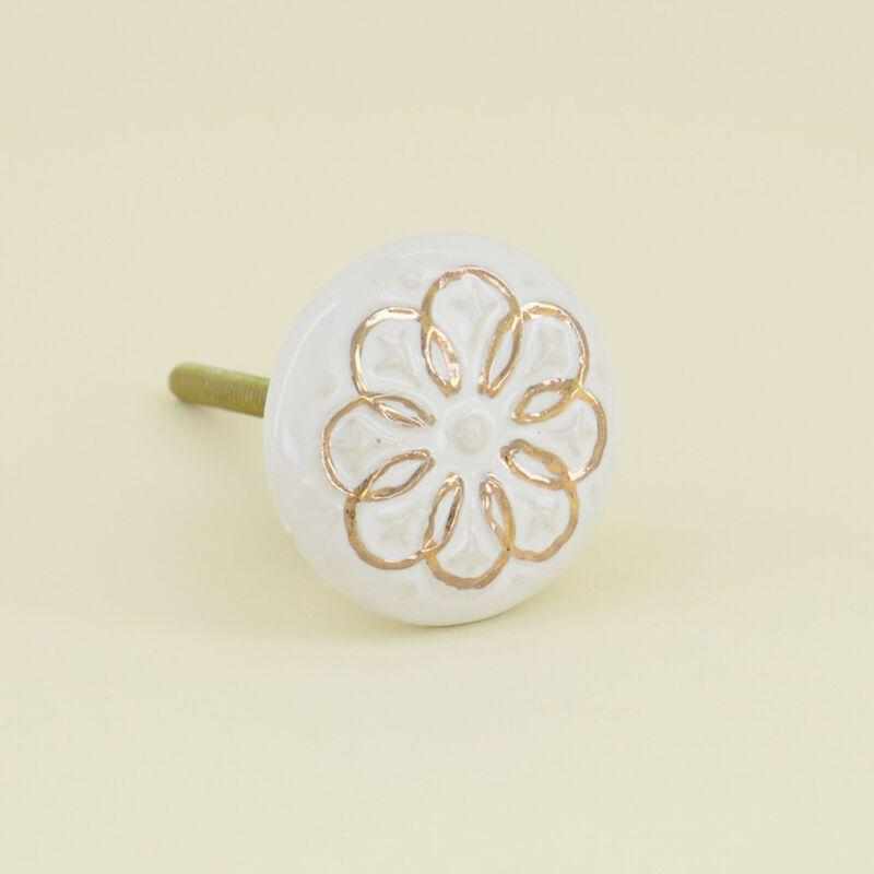Gold Flower Knob -  dc0993