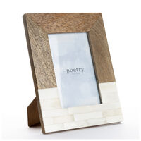 Wood and Bone Split Frame -  brown-white