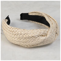 Ora Twisted Straw Alice Band -  oatmeal