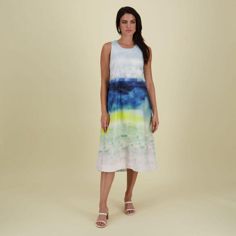 Nina A-Line Dress -  blue