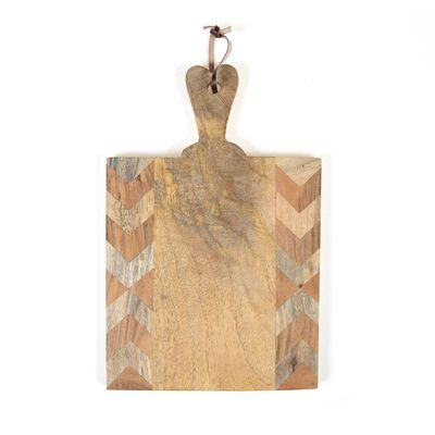 Wooden Board with Chevron Detail