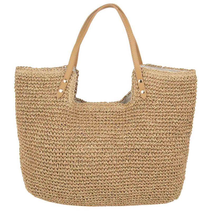 Liv Straw Shopper Bag -  oatmeal-tan