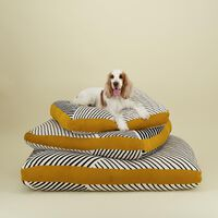 Black & Milk Striped Dog Pillow -  assorted