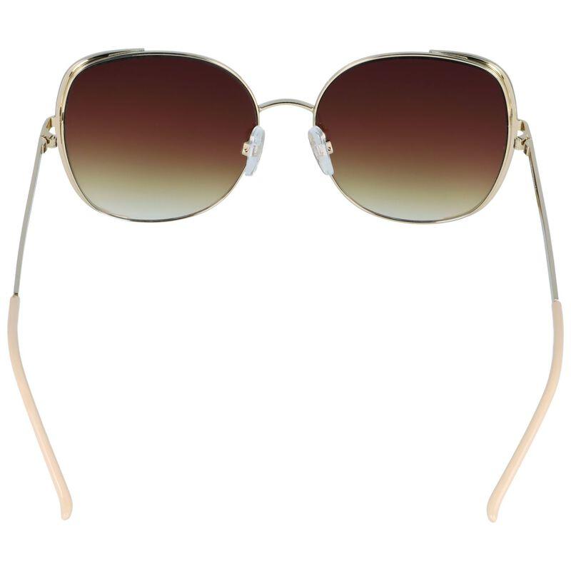 Enamel Metal Inset Sunglasses -  stone-gold