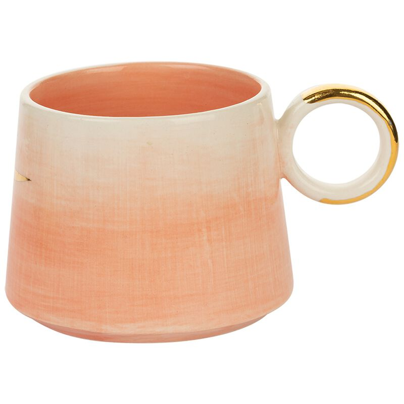 Kapula Pink Ombre Mug -  pink-gold