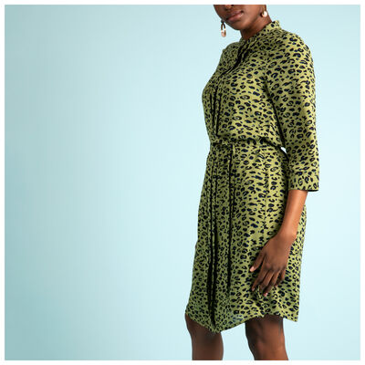 Della Animal Shirt Dress