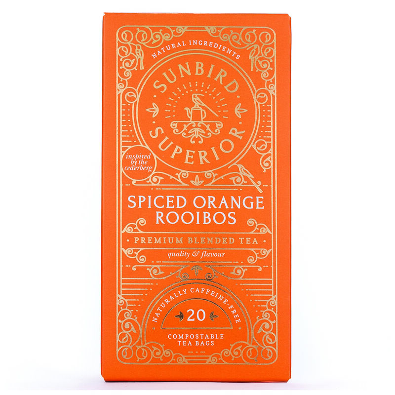 Sunbird Spiced Orange Rooibos Tea -  orange
