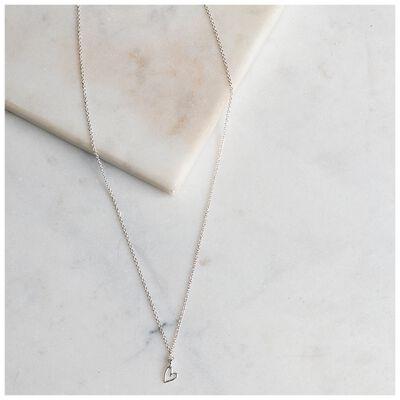 Heart Drop Delicate Pendant Necklace