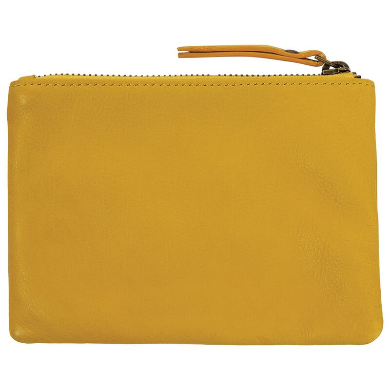 Moira Leather Small Pouch -  yellow
