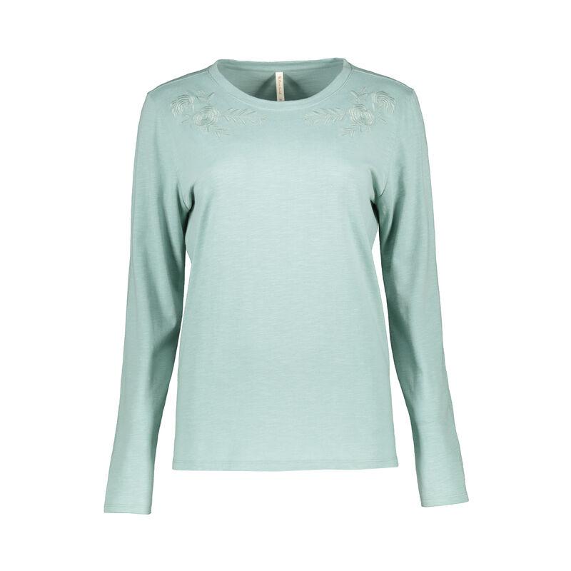 Rare Earth Women's Bijou Embriodered T-Shirt -  sage