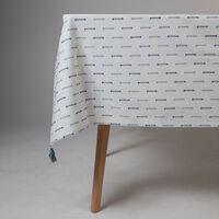 Blue Stitch Tablecloth  -  milk-blue