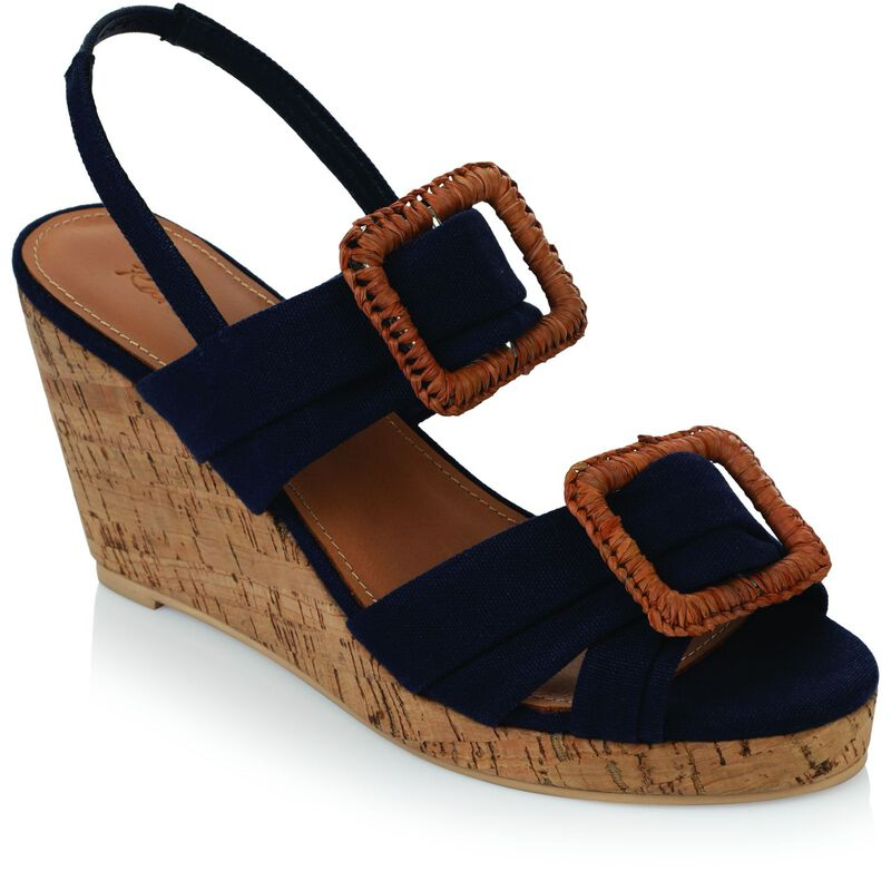 Rare Earth Allison Wedge -  navy