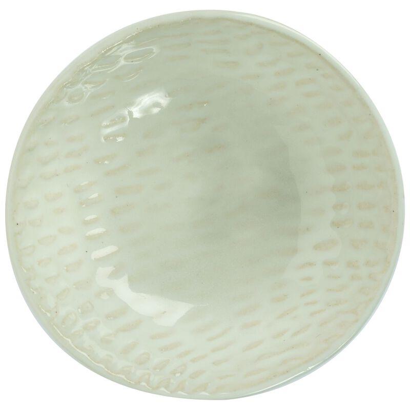 Scraffito White Clay Large Salt -  white