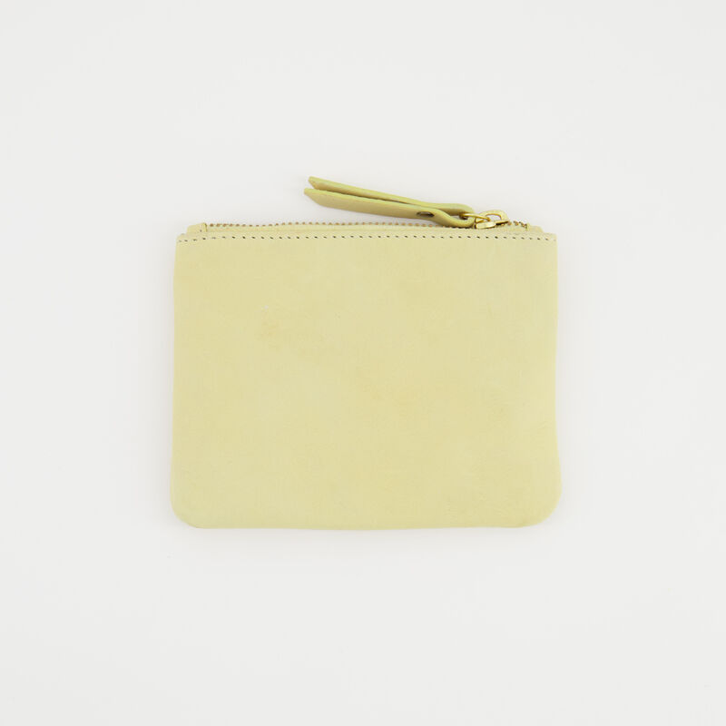 Moira Leather Pouch -  yellow