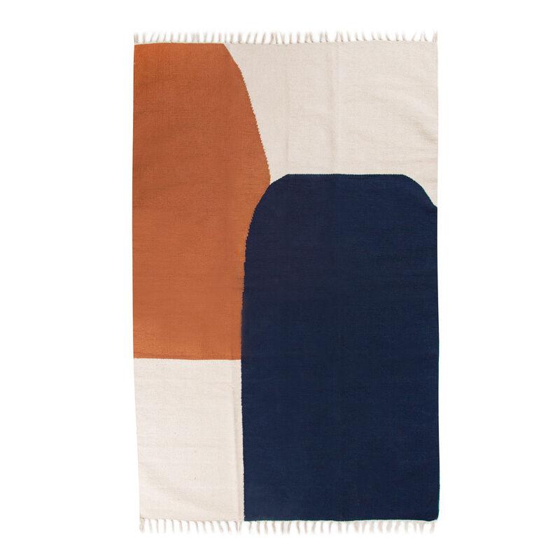 Colour Blocked Design Rug -  assorted