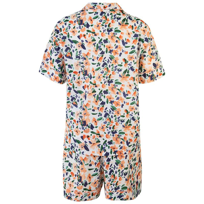 Mary-Lou Floral Pyjama Set -  pink-blue