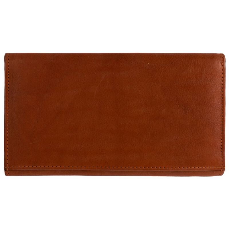 Sonia Structured Leather Wallet -  tan
