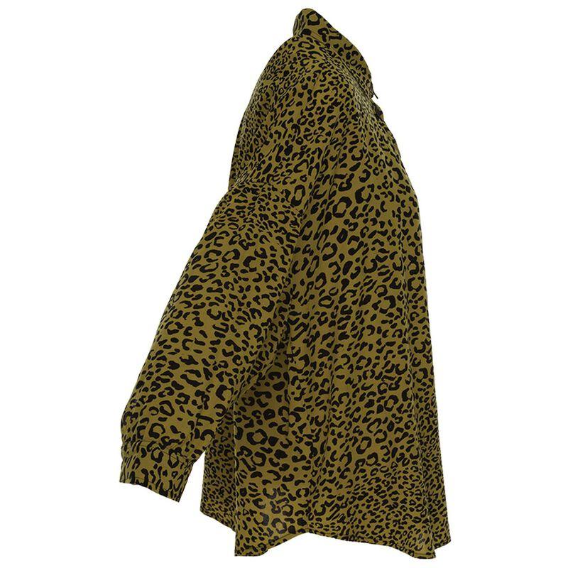 Virginia Leopard Print Blouse -  avocado