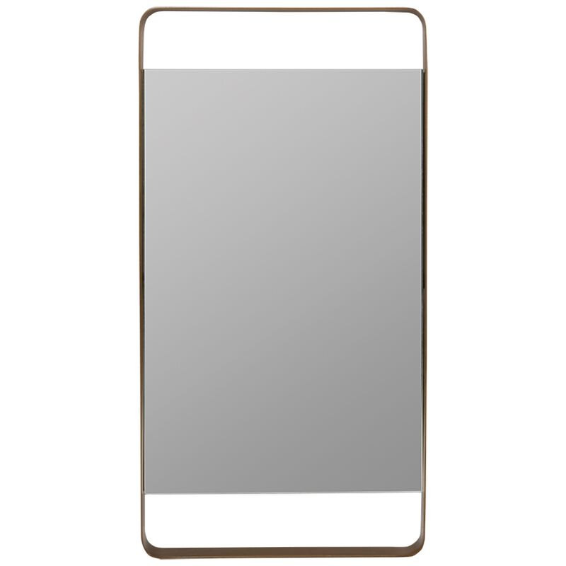 Antique Brass Wall Mirror -  gold