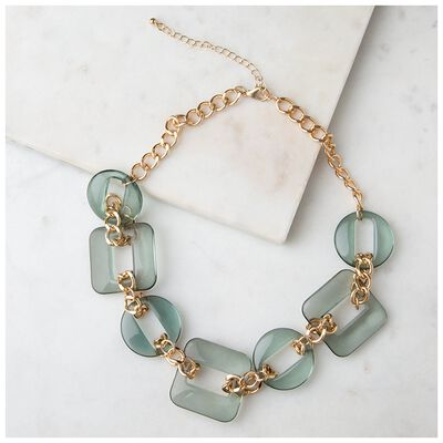 Resin & Chain Link Necklace