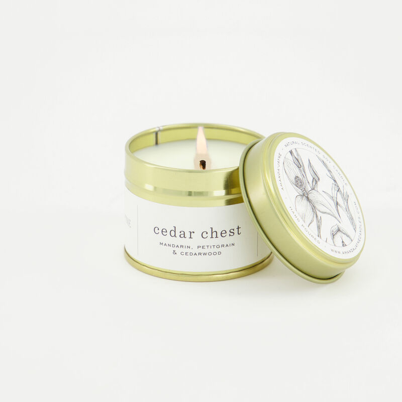 Amanda Jayne Cedar Chest Scented Soy Candle -  c09