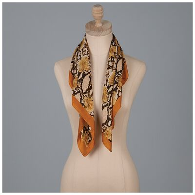 Rebekah Snake Print Neckerchief