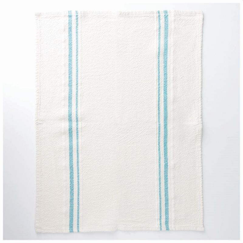 Barrydale French Country Teal Tea Towel  -  stone-teal
