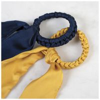 2-Pack Paleza Plaited Hair Tie Set -  yellow-navy