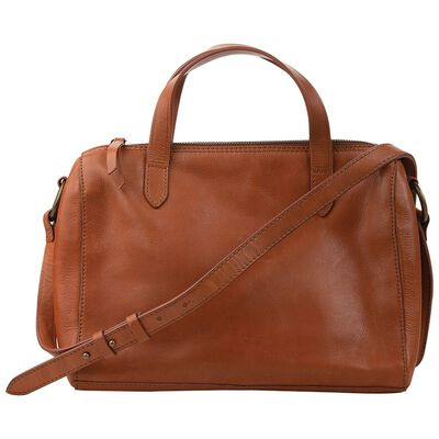 Ariella Leather Bowler Bag