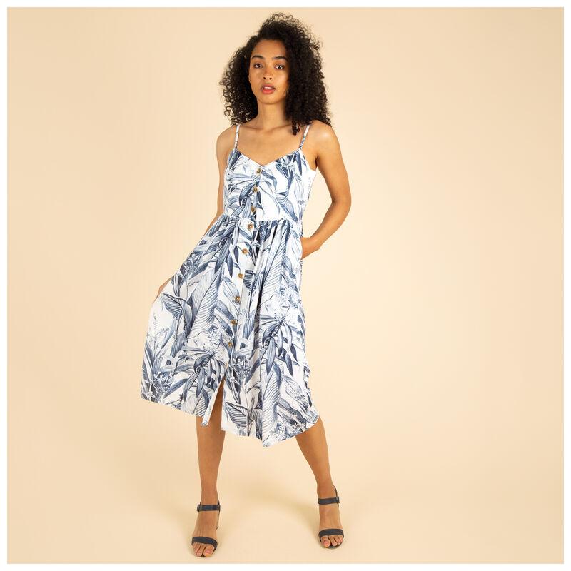 Ora Floral Printed Dress -  blue