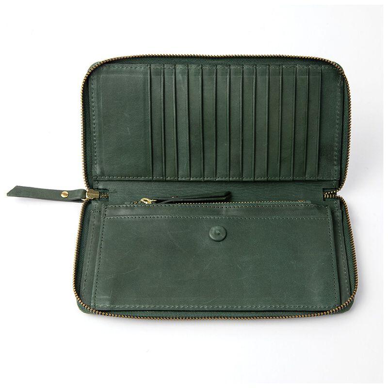 Heidi Leather Wallet -  green
