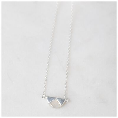 Moonstone & Sterling Silver Halfmoon Necklace