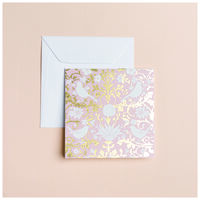 Blush Chintz Card -  palepink