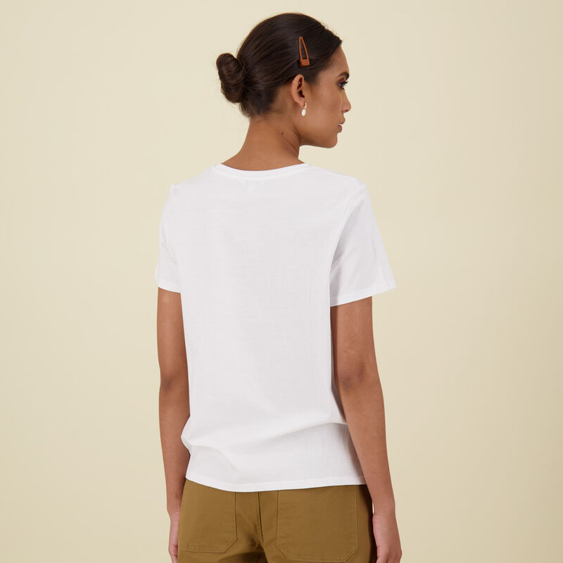 Des Cotton T-Shirt -  white