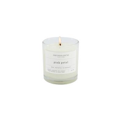 Amanda Jayne Pink Petal Candle in Glass