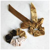 Velvet Scrunchie 2-Pack Set -  yellow