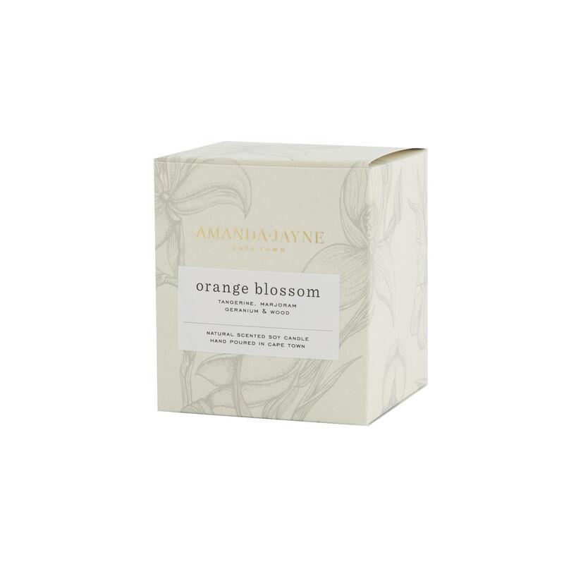 Amanda Jayne Orange Blossom Candle in Glass   -  white-black