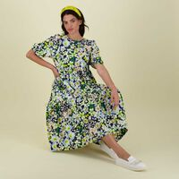 Poppy Tiered Dress -  green